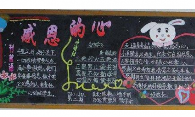 【感恩的心黑板报图片】感恩节黑板报:感恩的心